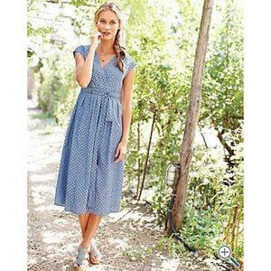 Garnet Hill Polka Dot Chambray Dress